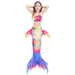 Category: Dropship Kids & Mom, SKU #SKUA09800, Title: 3Pcs Girls Mermaid Swimsuit For 4Y-13Y