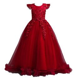 Category: Dropship Kids & Mom, SKU #SKUA29877, Title: Flower Girls Princess Dress For 6Y-15Y