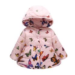 Category: Dropship Kids & Mom, SKU #SKUA54135, Title: Multi-color Print Girls Coat For 2Y-7Y