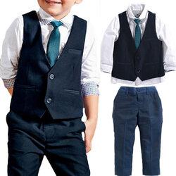 Category: Dropship Kids & Mom, SKU #SKUA58439, Title: 4Pcs Boys Formal Sets For 1Y-9Y