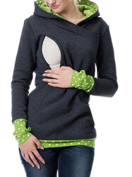 Category: Dropship Kids & Mom, SKU #SKUA74995, Title: Maternity Hooded Nursing Sweatshirt S-3XL