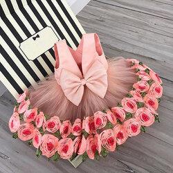 Category: Dropship Kids & Mom, SKU #SKUA88157, Title: Flower Girls Bow-Knot Dress For 3-13Y