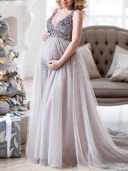 Category: Dropship Kids & Mom, SKU #SKUB17717, Title: Sexy V-neck Photography Maxi Dress