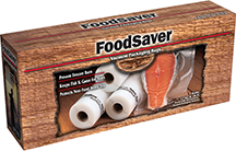 Category: Dropship Food Processing, SKU #18575, Title: Food Saver Game Saver Bag Rolls 11in.x16ft. 2 pk