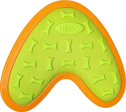 Category: Dropship Dog Toys, SKU #87461, Title: Hero Outer Armor Boomerang Orange/Lime Large