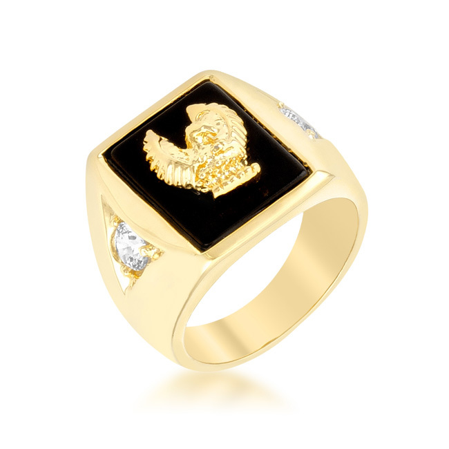 Dropshipping Golden Eagle Mens Ring - SellerBooster