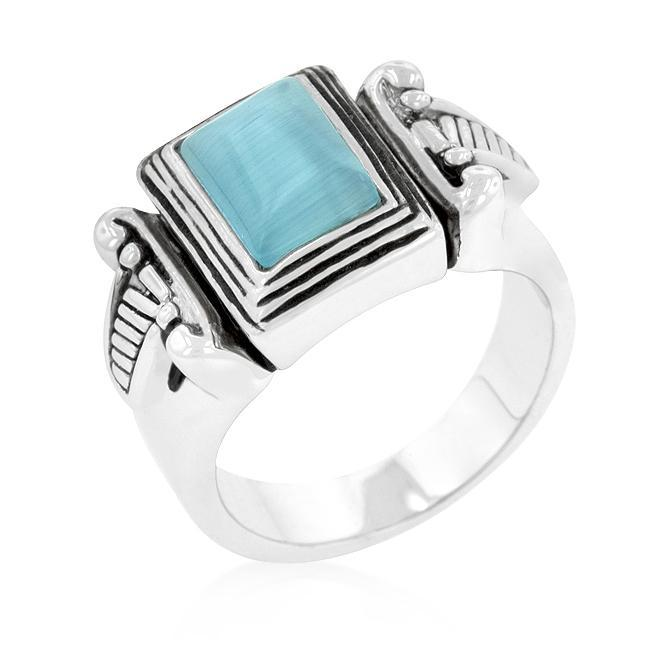 Dropshipping Blue Cats Eye Vintage Ring - SellerBooster