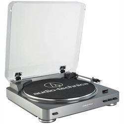 AUDIO TECHNICA AT-LP60 Fully Automatic Belt-Drive Turntable (Sil