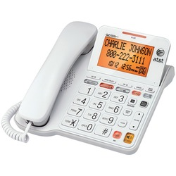 ATT CL4940 Corded Phone with Answering System & Large Tilt Displ