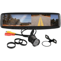 """BOSS AUDIO BV430RVM 4.3"""" Rearview Mirror with Monitor & Backup C"""