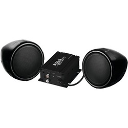BOSS AUDIO MCBK420B 600-Watt Motorcycle/All-Terrain Speaker & Am