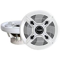 """BAZOOKA MAC8100W Marine 2_way Coaxial Speakers (8"""", White)"""
