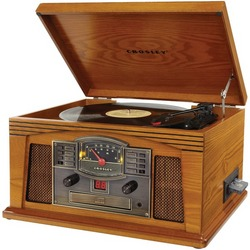 CROSLEY RADIO CR42C-OA Lancaster Musician Entertainment Centers