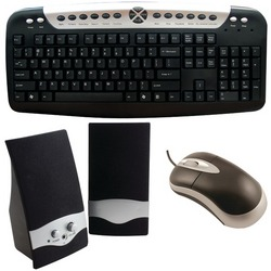 Axis Computer Kit- Multimedia Speakers, Usb Keyboard And Usb Mou