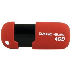 DANE-ELEC DA-ZMP-04G-CA-R3-R Capless USB Pen Drive (4GB; Red)