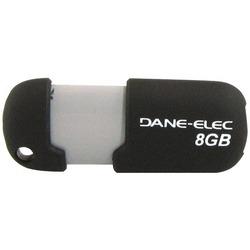DANE-ELEC DA-ZMP-08G-CA-N4-R Capless USB Pen Drive (8GB; Black)