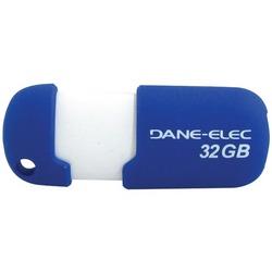 DANE-ELEC DA-ZMP-32G-CA-A1-R Capless USB Pen Drive (32GB; Blue)