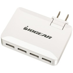 IOGEAR GPAW4U4 GearPower QuadSmart USB 4.2A Wall Charger
