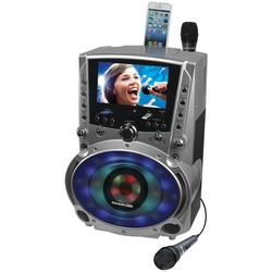 KARAOKE USA GF758 DVD/CD+G/MP3+G Bluetooth(R) Karaoke System wit