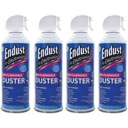 Endust 255050 Electronics Duster 4 Pk (10 Oz; Non-flammable; Wit