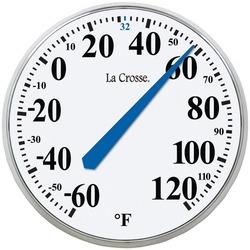 "LA CROSSE TECHNOLOGY 104-114 13.5"" Round Thermometer"