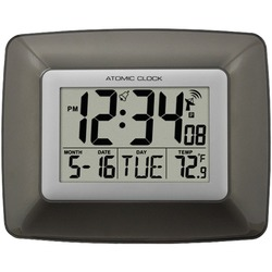 LA CROSSE TECHNOLOGY WS-8008U Atomic Digital Wall Clock with Ind