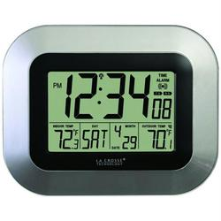LA CROSSE TECHNOLOGY WS-8115U-S Atomic Digital Wall Clock with I