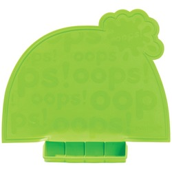 Mastrad Baby A52808 Green Lil' Placemat with Roll-up Carrying Po