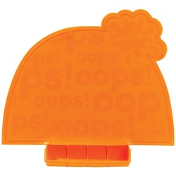 Mastrad Baby A52809 Orange Lil' Placemat with Roll-up Carrying P