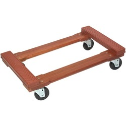 MONSTER TRUCKS MT10002 Wood 4-Wheel Piano Rubber-Cap Dolly
