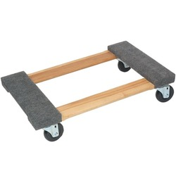 MONSTER TRUCKS MT10003 Wood 4-Wheel Piano Carpeted Dolly