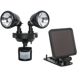 MAXSA INNOVATIONS 44215 Solar-Powered Dual-Head LED Security Spo