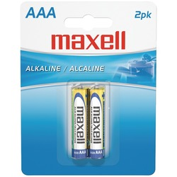 MAXELL 723807 - LR032BP Alkaline Batteries (AAA; 2 pk; Carded)