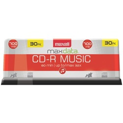 MAXELL 625335 80-Minute Music CD-Rs (30-ct Spindle)