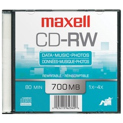 MAXELL 630010 700MB 80-Minute CD-RWs (Single)