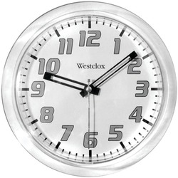 "WESTCLOX 32004 7.75"" Translucent Wall Clock (White)"