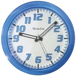 "WESTCLOX 32004BL 7.75"" Translucent Wall Clock (Blue)"