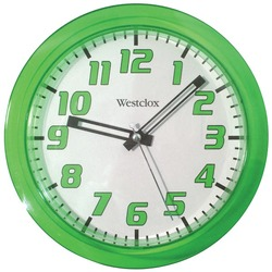 "WESTCLOX 32004G 7.75"" Translucent Wall Clock (Green)"