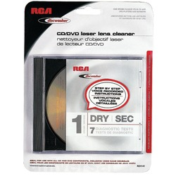DISCWASHER RD1141 CD/DVD Laser Lens Cleaners (1-Brush; Dry)