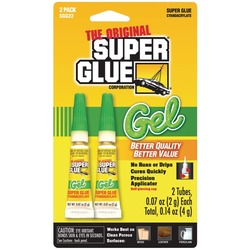SUPER GLUE SGG22-12 Thick-Gel Super Glue Tubes (Double Pack)