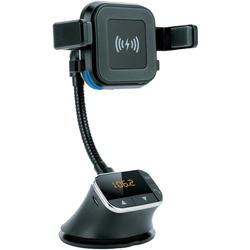 Category: Dropship Chargers, SKU #SSCIQ270QI, Title: Supersonic IQ-270QI Bluetooth Qi Charging Mount and FM Transmitter