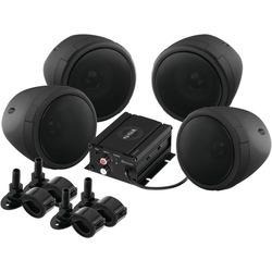 SOUNDSTORM SMC90BB Motorcycle/UTV 1,000-Watt Sound System with B