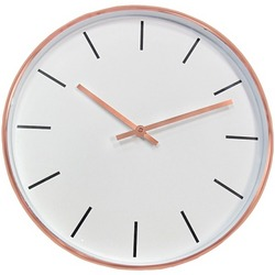 "TIMEKEEPER 667001 15"" Round Copper Metal Wall Clock"