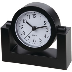 "TIMEKEEPER TK6851 4"" Swivel Black Desktop Clock"