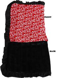Category: Dropship New Arrivals, SKU #500-154 SNSJB, Title: Luxurious Plush Pet Blanket Santa Says Jumbo Size