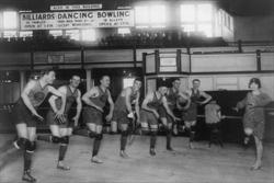 Category: Dropship Photographic, SKU #19914-8 C2436, Title:  Dance Lessons for the Palace Club Basketball Team (Canvas Art)