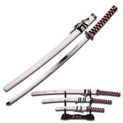 Category: Dropship New Arrivals, SKU #SW68LWH4, Title: 3pc White Samurai Sword Set SW68LWH4