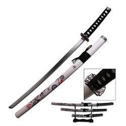 Category: Dropship New Arrivals, SKU #SW76-4, Title: 3pc White Samurai Sword Set SW-76-4