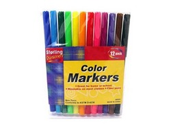 Category: Dropship School & Office Supplies, SKU #AE009-96, Title: Color Marker Set ( Case of 96 )