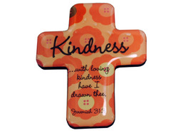 Category: Dropship Religious, SKU #BG036-40, Title: 4pk kindness cross magnts ( Case of 40 )